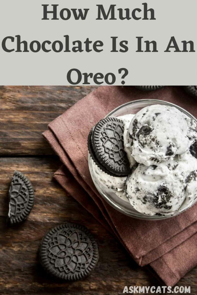 how much chocolate is in an Oreo?